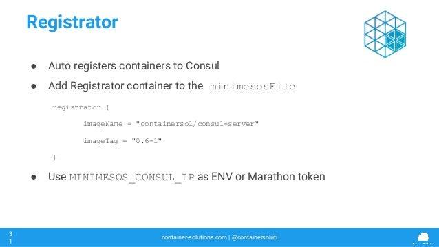 Mesoscon 2016 minimesos the experimentation and testing for Consul registrator