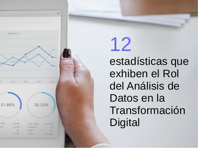 12 estad�sticas que exhiben el Rol del An�lisis de Datos en la Transformaci�n Digital