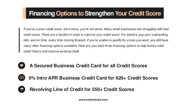 550 Credit Score Credit Card >> Minimum Credit Score Requirements To Qualify For Business Loans