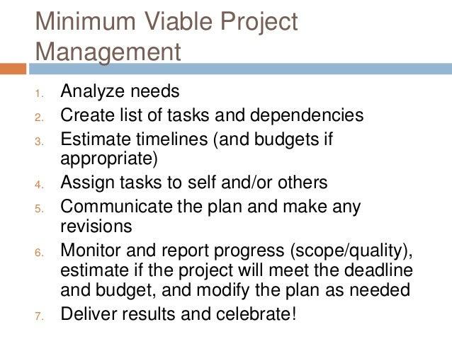 Minimum Viable Project Management Slide 3