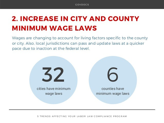 Minimum Wage Laws: 5 Trends Affecting Your Labor Law Compliance Program Slide 3