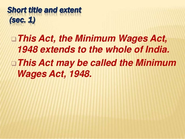 minimum wage law essay The minimum wage is the lowest wage an employer is allowed to pay although a federal minimum wage is set, the individual states can choose to use the federal wage or.