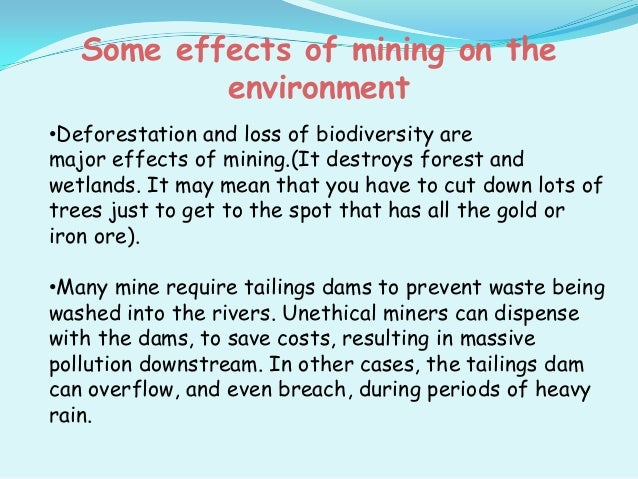 the environmental effects of mining