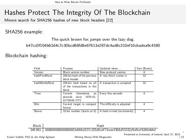 How to Mine Bitcoin Profitably Hashes Protect The Integrity Of The Blockchain Miners search for SHA256 hashes of new block ...