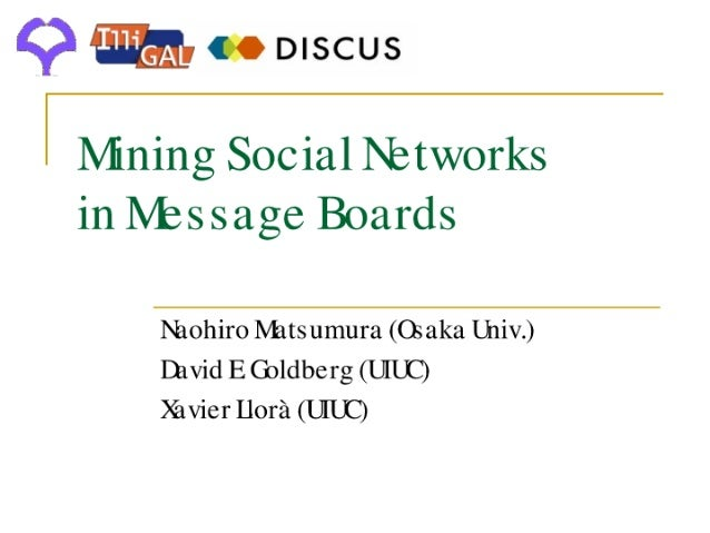 Mining Social Networks in Message Boards
