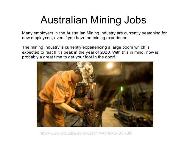 how to get a job in mining with no experience