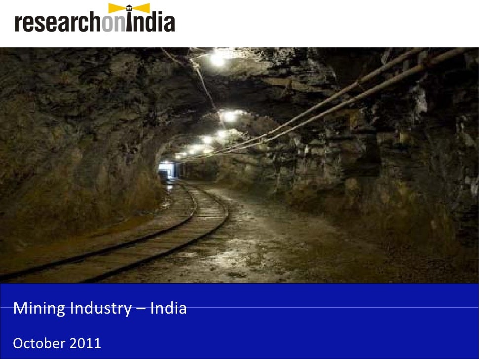 Insert Cover Image using Slide Master View                              Do not distortMining Industry –Mining Industry Ind...