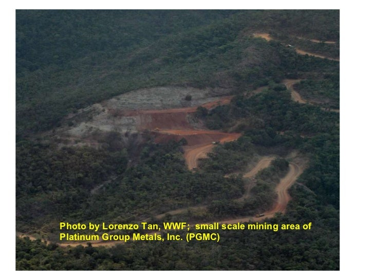 Photo by Lorenzo Tan, WWF;  small scale mining area of Platinum Group Metals, Inc. (PGMC)
