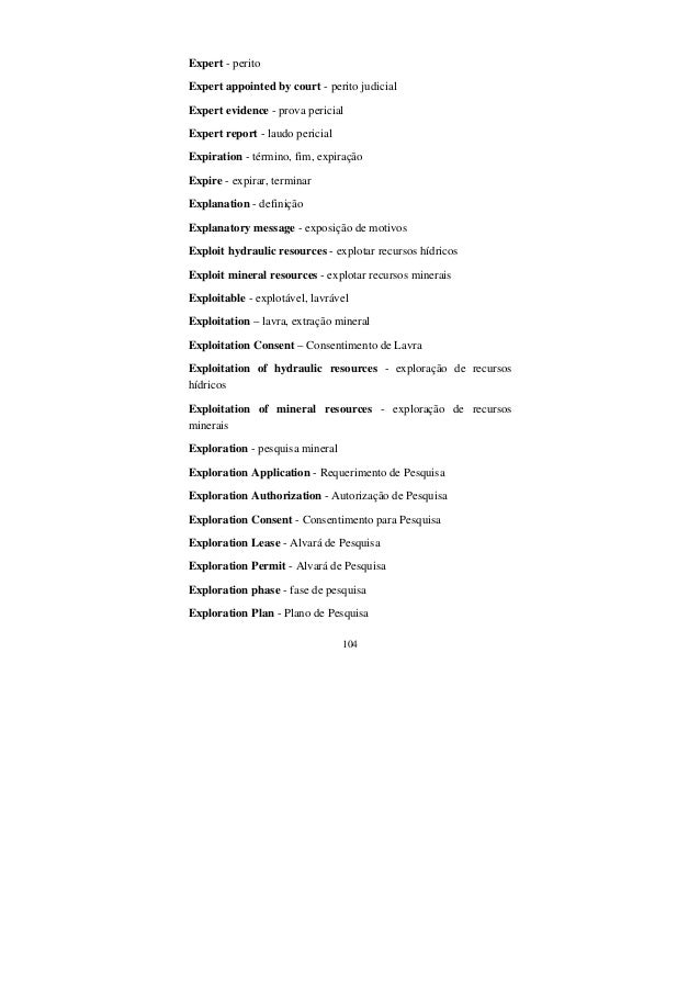 104 Expert - perito Expert appointed by court - perito judicial Expert evidence - prova pericial Expert report - laudo per...