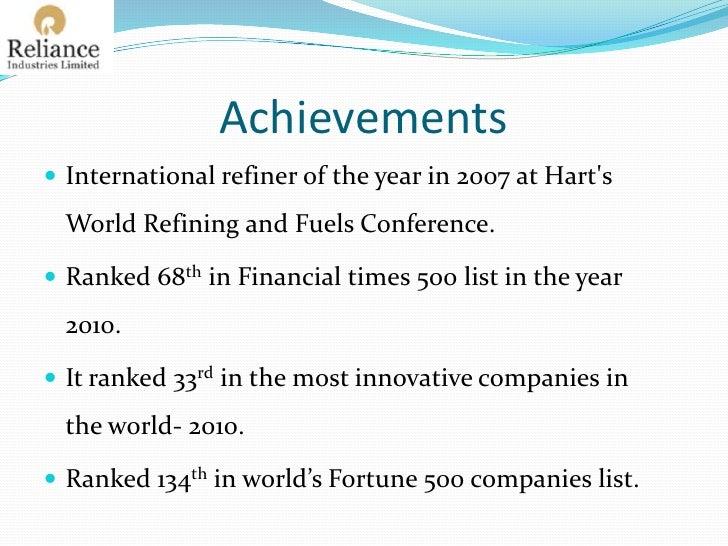 Reliance Industries Ltd.Profile<br /><ul><li>Headquarter- Mumbai
