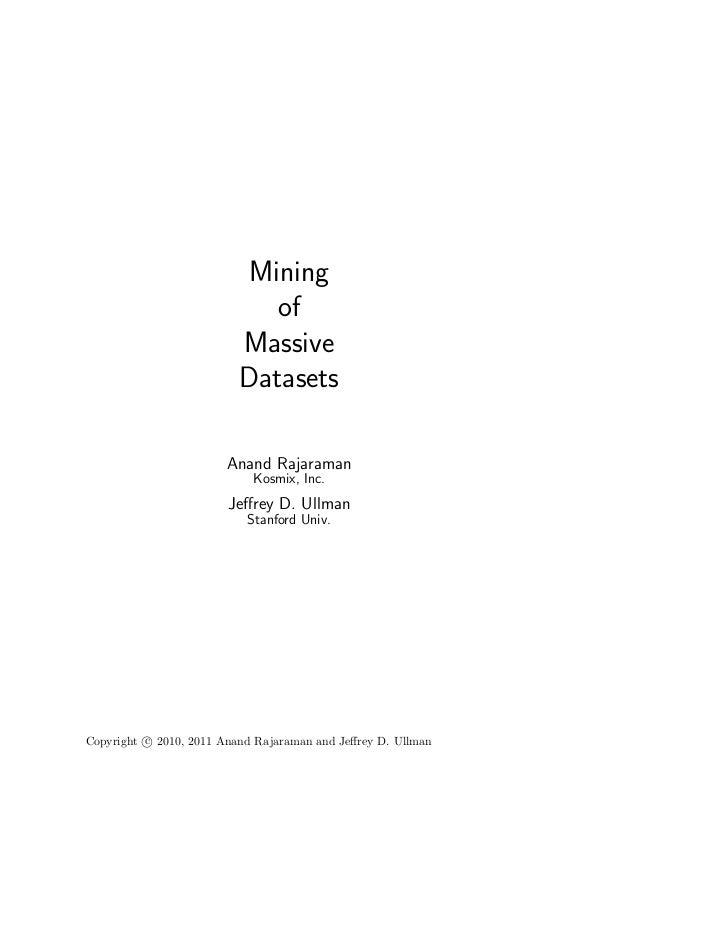 Mining                             of                          Massive                          Datasets                  ...
