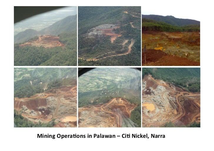 Mining OperaGons in Palawan – CiG Nickel, Narra