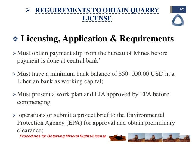 Procedures of Obtaining Mining Rights/License in Liberia