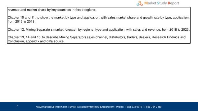 Mining separators market Share Worldwide Industry Growth, Size, Stati…