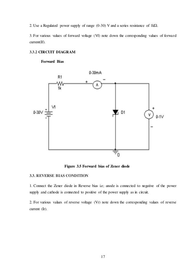 Minor project report on pn junction, zener diode, led characteristics