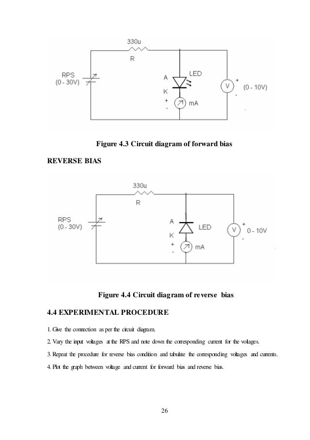 Minor project report on pn junction zener diode led characteristics 43 circuit diagram forward bias 26 ccuart Choice Image