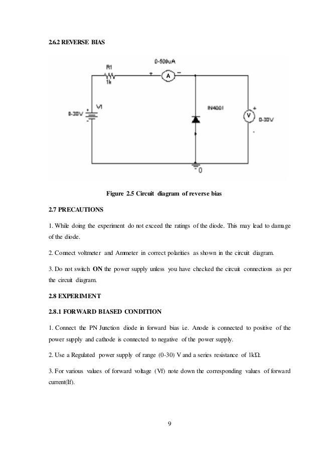 circuit diagram zener diode characteristics