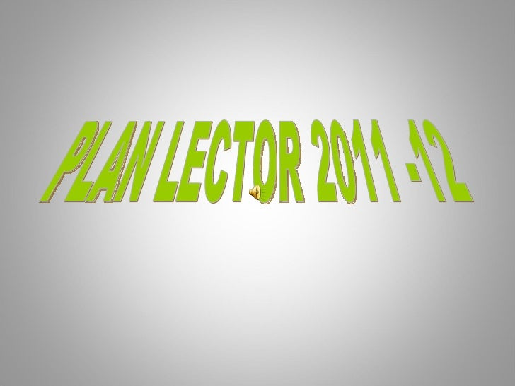 PLAN LECTOR 2011 -12
