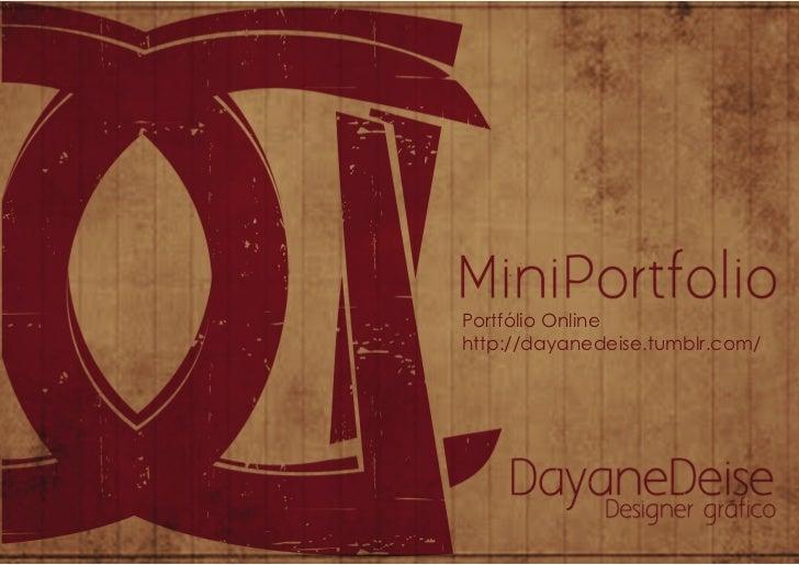 Portfólio Onlinehttp://dayanedeise.tumblr.com/