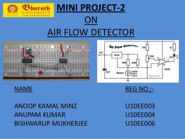 air flow detector system rh slideshare net mass air flow sensor circuit diagram Air Flow Diagrams Volumetric Flow Rate