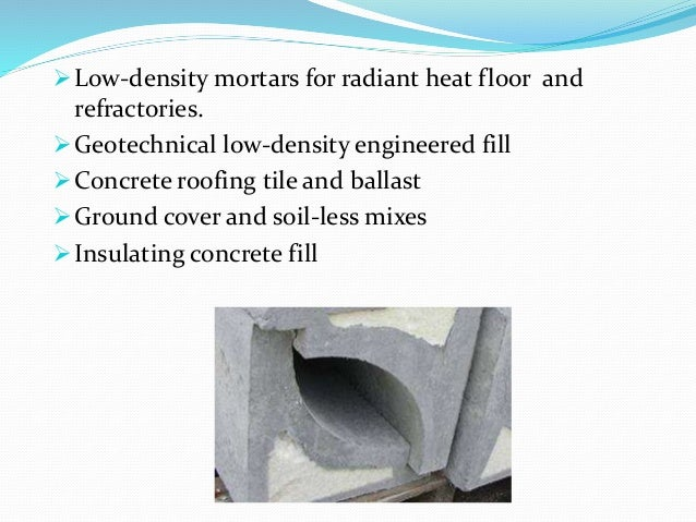 Low Density Fill Concrete : Mini project