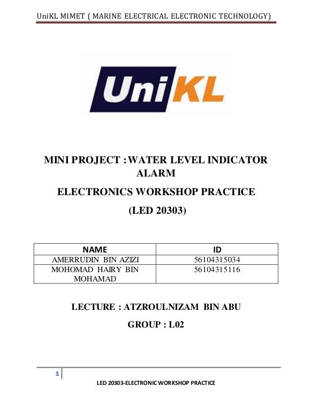 Mini project electronic workshop