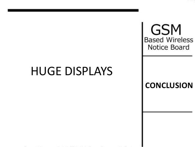 mini project  gsm based wireless notice board