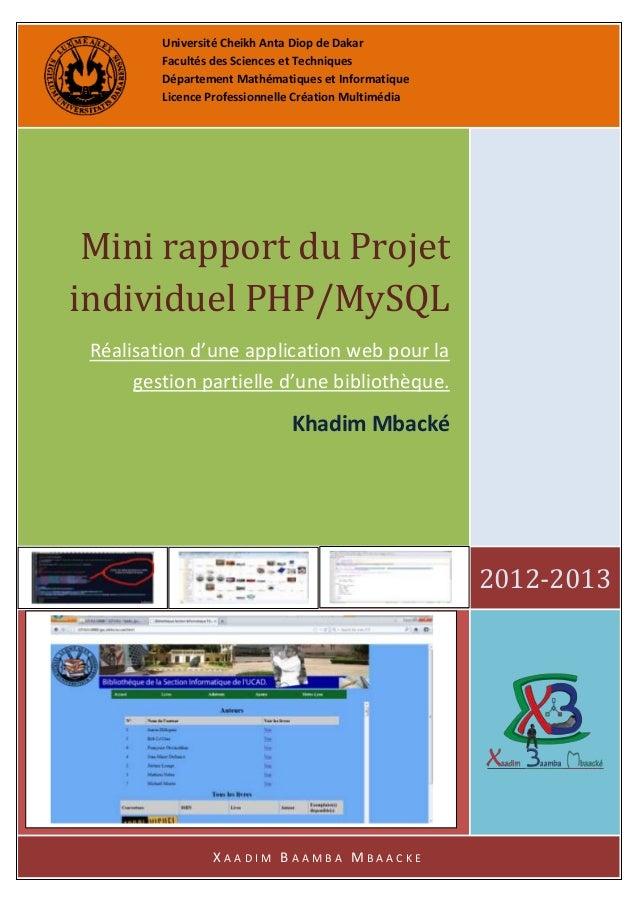 Université Cheikh Anta Diop de Dakar Facultés des Sciences et Techniques Département Mathématiques et Informatique Licence...