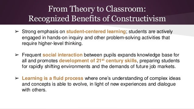 Innovative Classroom Practices In The Light Of Constructivism In ~ Mini report