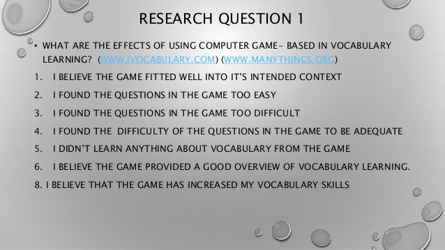 questioners about effects of computer games It contains questions put forth by gamers and professionals  have you  experienced physical effects from excessive gaming (eg carpal tunnel, eye  strain,.