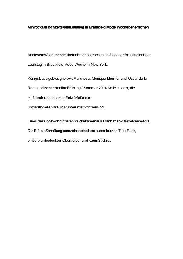 MinirockalsHochzeitskleidLaufsteg in Brautkleid Mode WochebeherrschenAndiesemWochenendeübernahmenoberschenkel-fliegendeBra...