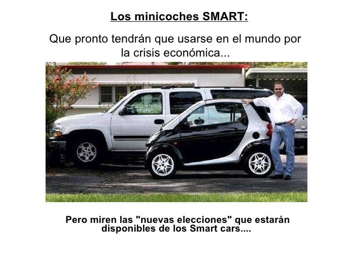 """Pero miren las """"nuevas elecciones"""" que estarán disponibles de los Smart cars....      Los minicoches SMART:  ..."""