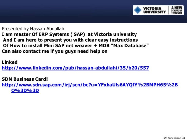Presented by Hassan AbdullahI am master Of ERP Systems ( SAP) at Victoria university And I am here to present you with cle...