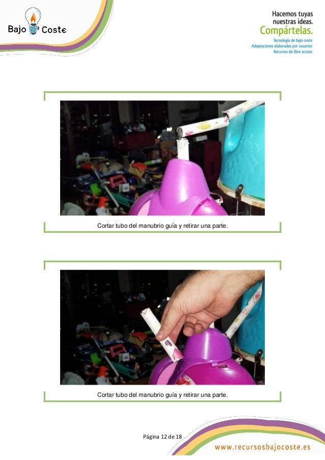 P�gina 12 de 18 P�gina 12 de 18 Cortar tubo del manubrio gu�a y retirar una parte. Cortar tubo del manubrio gu�a y retirar...