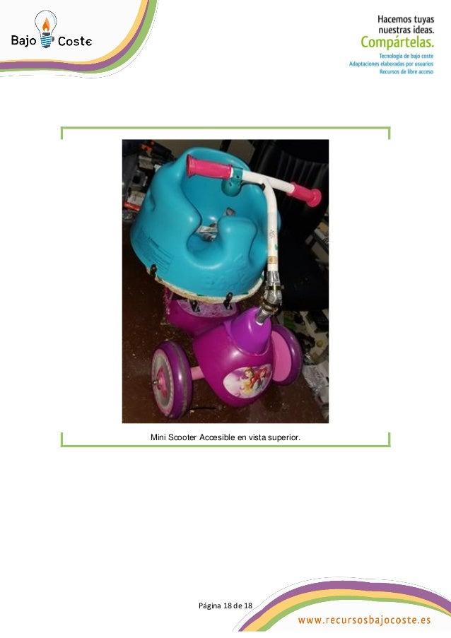 P�gina 18 de 18 P�gina 18 de 18 Mini Scooter Accesible en vista superior.