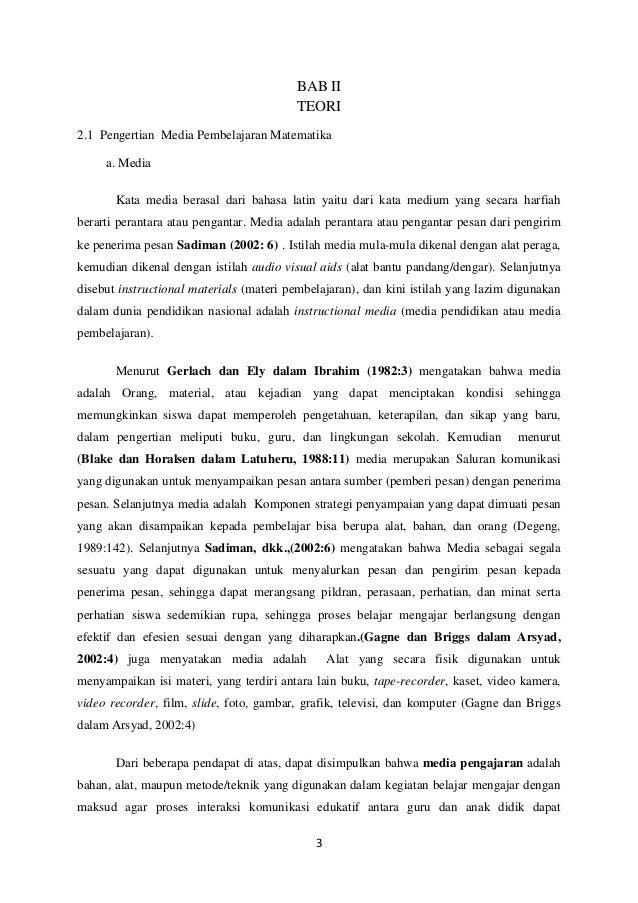 Mini Skripsi Media Pembelajaran Matematika