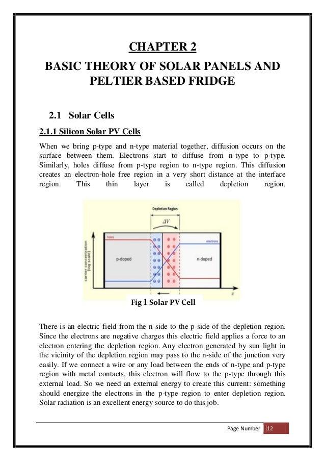 Design of Mini Compressorless Solar Powered Refrigerator