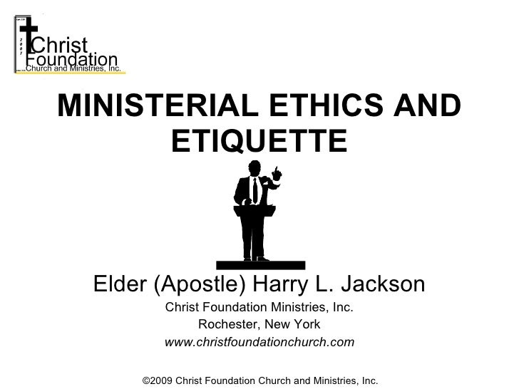 Elder (Apostle) Harry L. Jackson Christ Foundation Ministries, Inc. Rochester, New York www.christfoundationchurch.com MIN...
