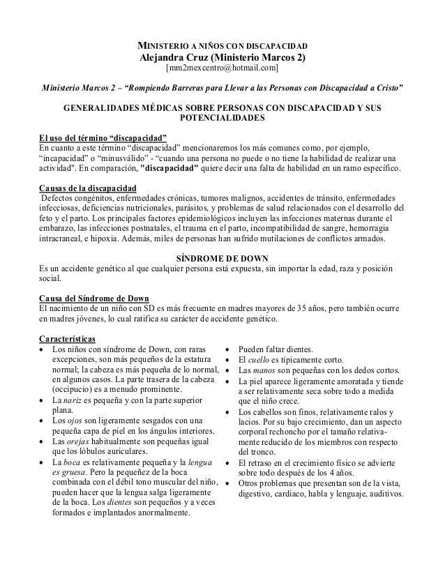 """MI ISTERIO A IÑOS CO DISCAPACIDAD Alejandra Cruz (Ministerio Marcos 2) [mm2mexcentro@hotmail.com] Ministerio Marcos 2 – """"R..."""