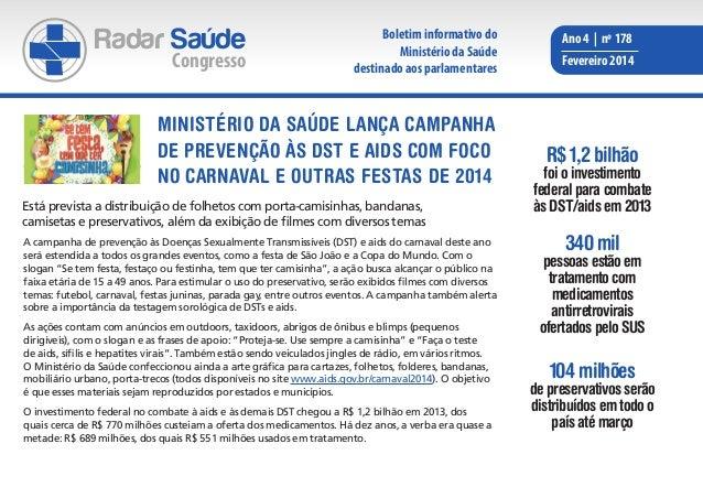 Radar Saúde  Congresso  Boletim informativo do Ministério da Saúde destinado aos parlamentares  MINISTÉRIO DA SAÚDE LANÇA ...