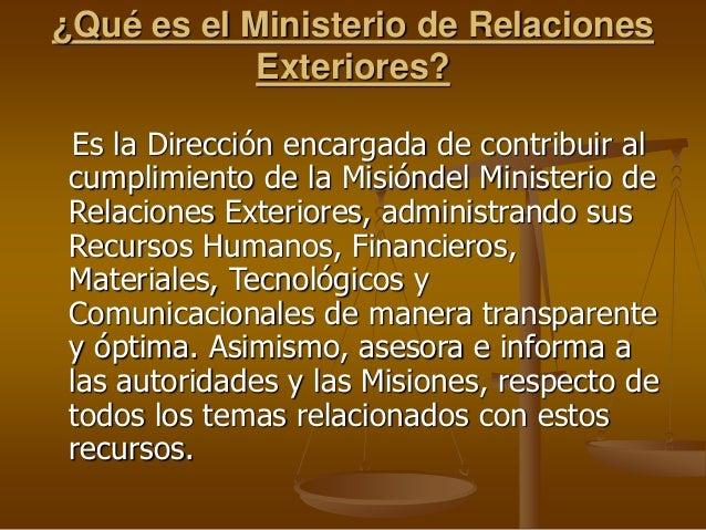 Ministerio de relaciones exteriores 1 for Oposiciones ministerio de exteriores