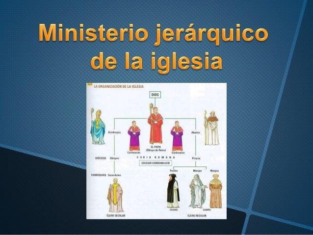 Ministerio Jerárquico De La Iglesia