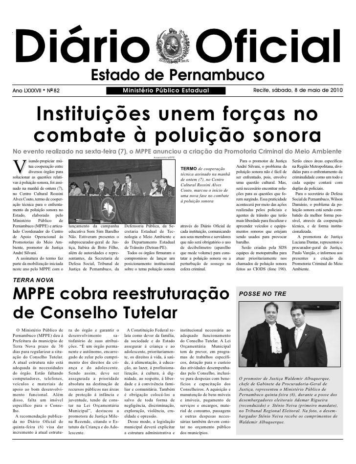Diário Oficial                                 Estado de Pernambuco Ano LXXXVII        l   NO 82                          ...