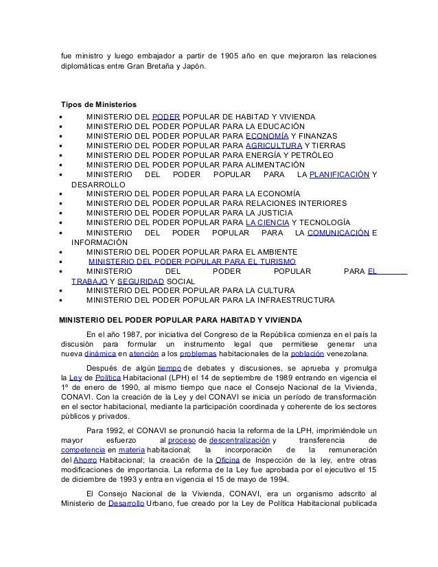 Ministerios de venezuela for Ministerio de relaciones interiores