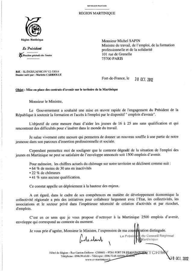 modele de lettre pour un ministre LETTRE A MICHEL SAPIN, MINISTRE DU TRAVAIL modele de lettre pour un ministre