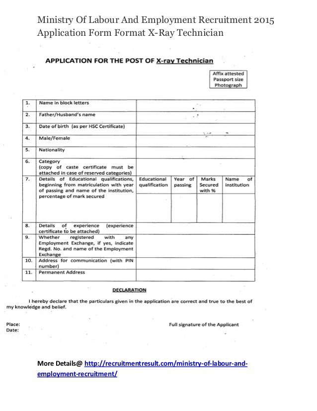 Ministry Of Labour And Employment Recruitment 2015 ...