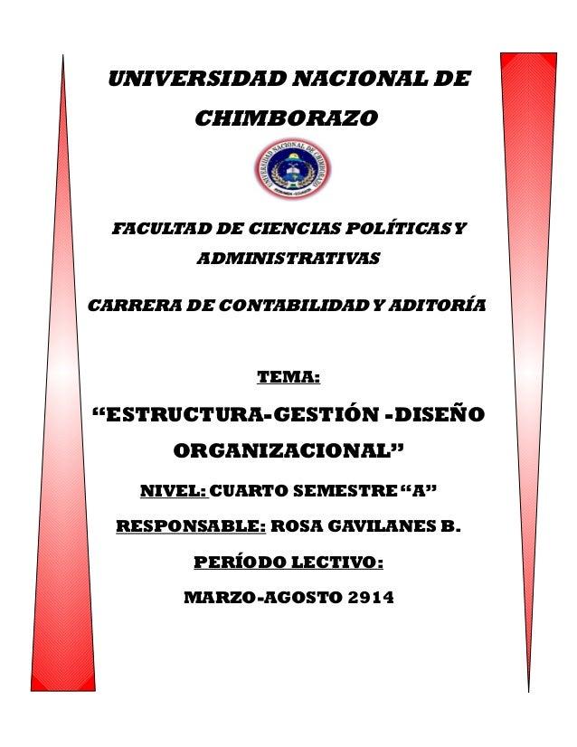 UNIVERSIDAD NACIONAL DE CHIMBORAZO FACULTAD DE CIENCIAS POLÍTICASY ADMINISTRATIVAS CARRERA DE CONTABILIDADY ADITORÍA TEMA:...