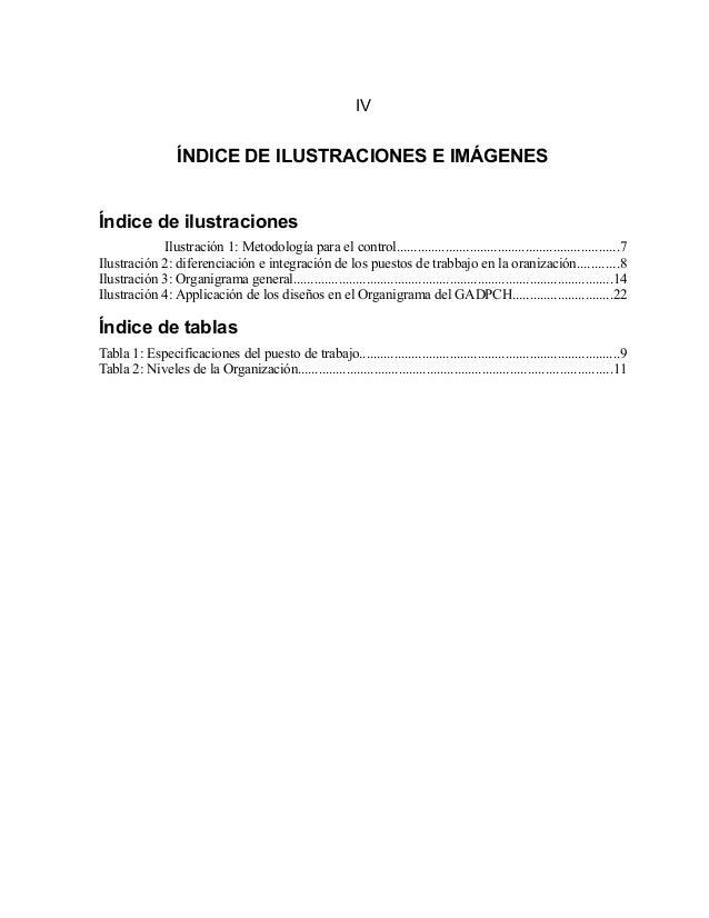 IV ÍNDICE DE ILUSTRACIONES E IMÁGENES Índice de ilustraciones Ilustración 1: Metodología para el control.....................