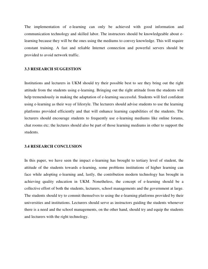 e learning thesis