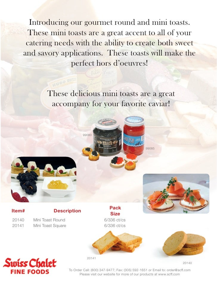 Introducing our gourmet round and mini toasts.     These mini toasts are a great accent to all of your     catering needs ...